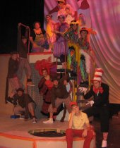 the Seussical ensemble