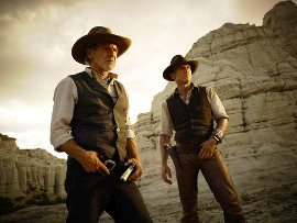 Harrison Ford and Daniel Craig in Cowboys & Aliens
