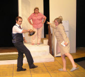 Broc Nelson, Karrie McLaughlin, and Ashley Hoskins in Crimes of the Heart