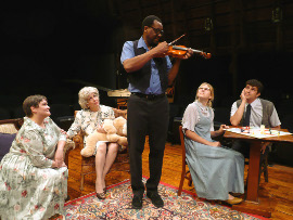 Mollie Schmelzer, Jackie Patterson, Renaud Haymon, Taylor McKean, and Jordan L. Smith in The Curious Savage