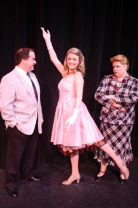 Bob Manasco, Cara Chumbley, and Wendy Czekalski in Curtains