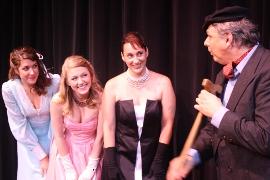 Andrea Millea, Cara Chumbley, Shana Lavino, and Jim Seward in Curtains