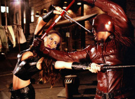 Jennifer Garner and Ben Affleck in Daredevil
