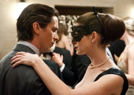 Christian Bale and Anne Hathaway in The Dark Knight Rises