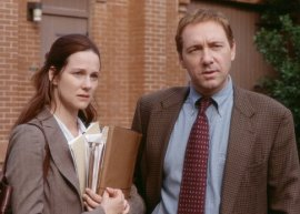 Laura Linney and Kevin Spacey in The Life of David Gale