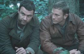 Liev Schreiber and Daniel Craig in Defiance