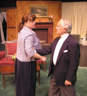 Denise Yoder and Spiro Bruskas in The Mousetrap
