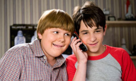 Robert Capron and Zachary Gordon in Diary of a Wimpy Kid: Dog Days