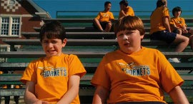 Zachary Gordon and Robert Capron in Diary of a Wimpy Kid