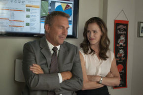 Kevin Costner and Jennifer Garner in Draft Day