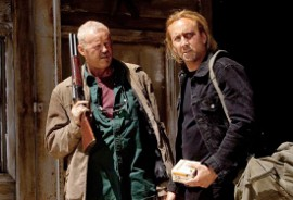 David Morse and Nicolas Cage in Drive Angry