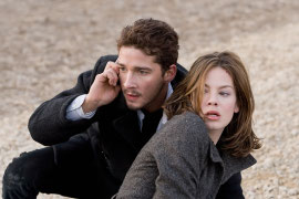 Shia LaBeouf and Michelle Monaghan in Eagle Eye
