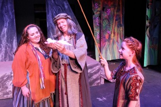Katherine Zerull, Harold Truitt, and Julia Remour in Children of Eden