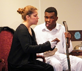 Analisa Percuoco and James Thames in The Elephant Man