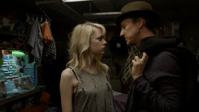 Emma Stone and Edward Norton in Birdman