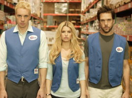 Dax Shepard, Jessica Simpson, and Dane Cook in Employee of the Month