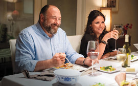 James Gandolfini and Julia Louis-Dreyfus in Enough