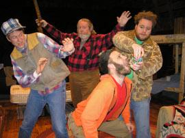 Don Faust, John VanDeWoestyne, Jonathan Grafft, and Justin Raver in Escanaba in da Moonlight