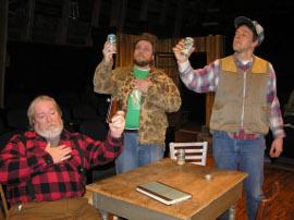 John VanDeWoestyne, Justin Raver, and Don Faust in Escanaba in da Moonlight
