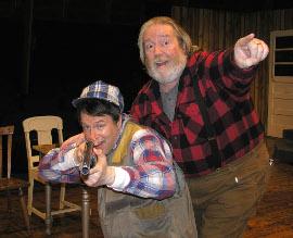 Don Faust and John VanDeWoestyne in Escanaba in da Moonlight