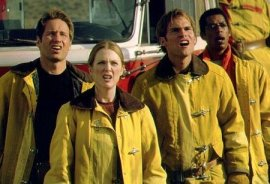 David Duchovny, Julianne Moore, Seann William Scott, and Orlando Jones in Evolution