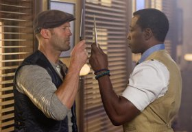 Jason Statham and Wesley Snipes in The Expendables 3