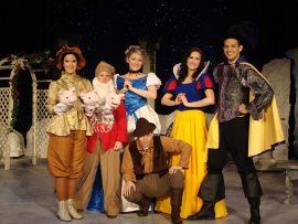 Adrienne Bergeron, Sunshine Woolison-Ramsey, Cara Chumbley, Chuckie Dixon, Kelly Lohrenz, and Jeremy Lagunas in A Fairy Tale Christmas