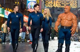 Chris Evans, Ioan Gruffudd, Jessica Alba, and Michael Chiklis in Fantastic Four