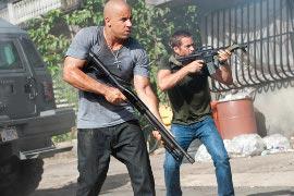 Vin Diesel and Paul Walker in Fast Five