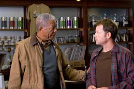 Morgan Freeman and Greg Kinnear in Feast of Love
