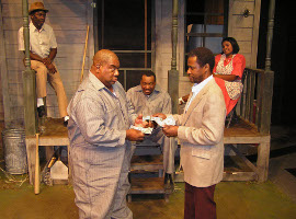 Joseph Obleton, Fred Harris, Jr., Renaud Haymon, Reggie Jarrell, and Shanna Cramer in Fences