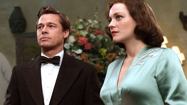 Brad Pitt and Marion Cotillard in Allied