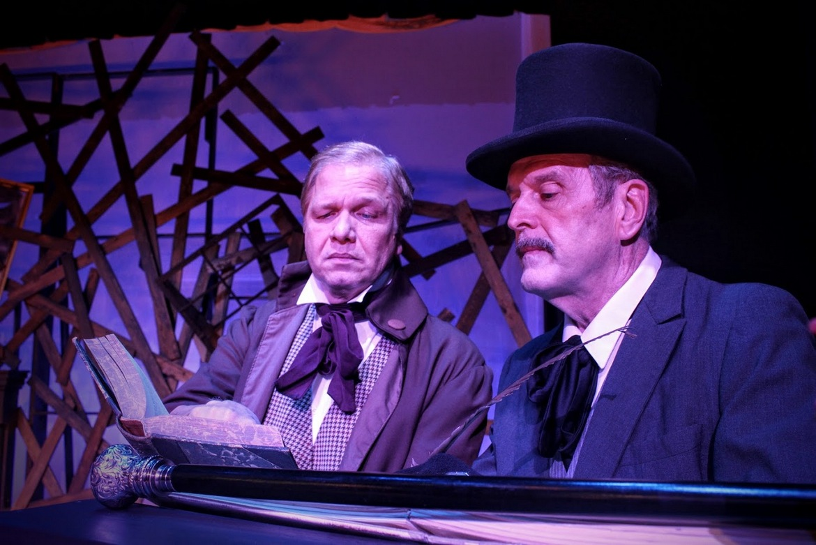 Kevin Pieper and Tom Naab in A Christmas Carol