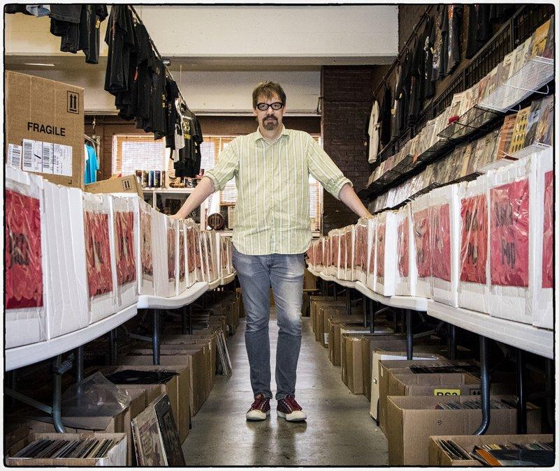 Cartouche Records' Bob Herrington at his Ragged Records store.