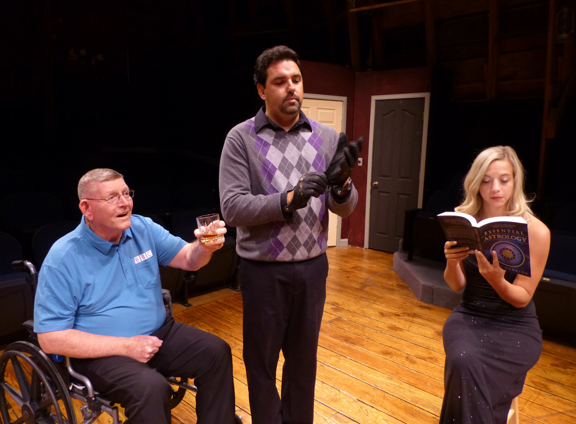Bob Carroll, Nathan Johnson, and Lindsay Schell in Checkmate