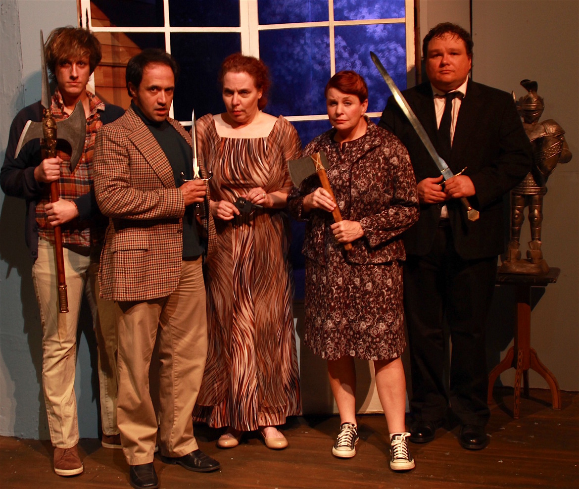 Adam Cerny, Jason Platt, Pamela Briggs, Nancy Teerlinck, and Jason Dlouhy in Deathtrap