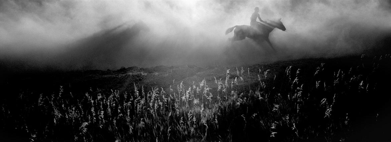 Wild horse races at the Oglala Lakota Nation Pow Wow, Pine Ridge Reservation, South Dakota. (2010) -- photo by Danny Wilcox Frazier