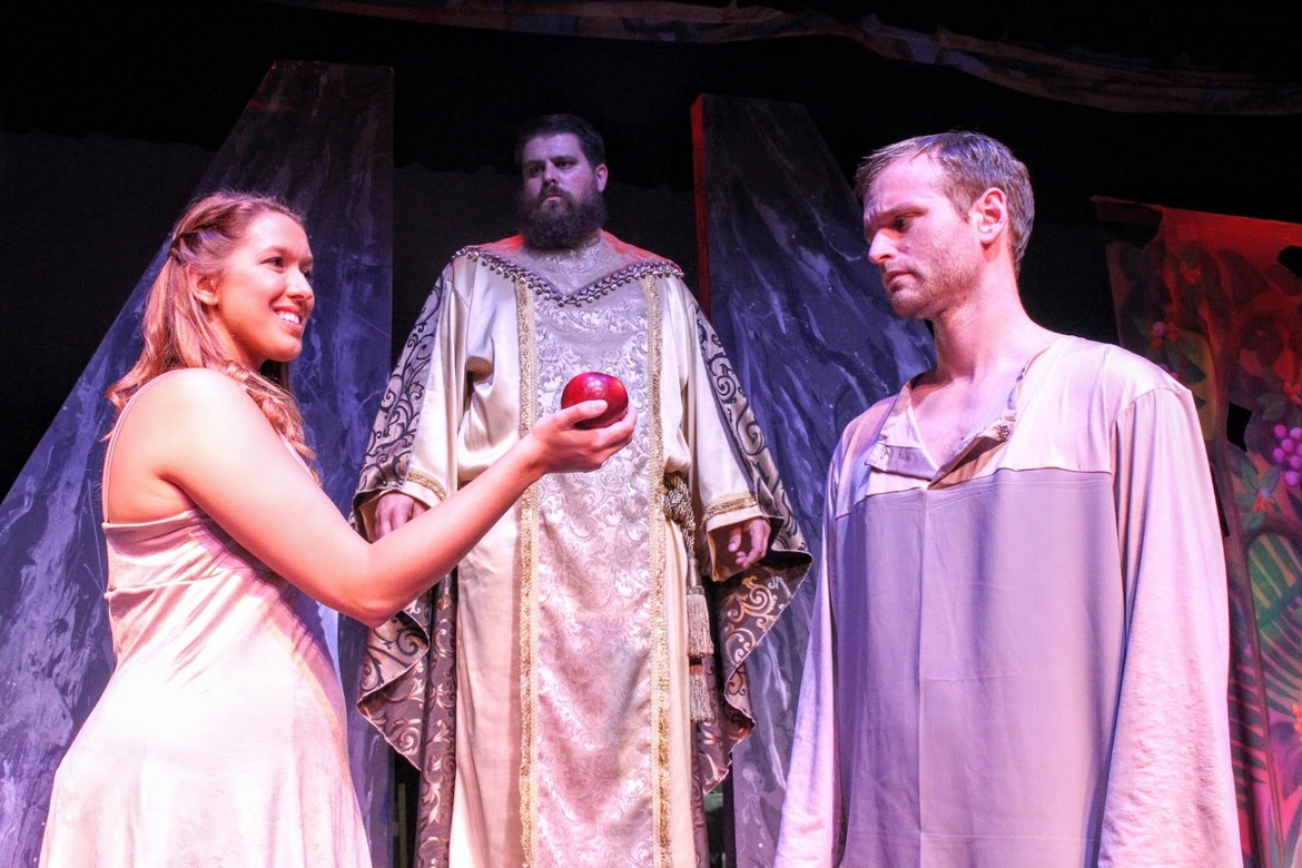 Hillary Pieper-Erb, Joel Kolander, and Troy Stark in Children of Eden