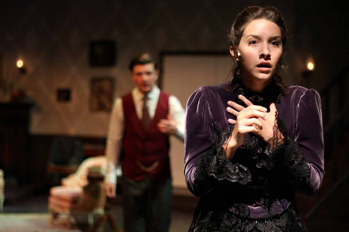 Kieran McCabe and Melissa Weyn in Gaslight
