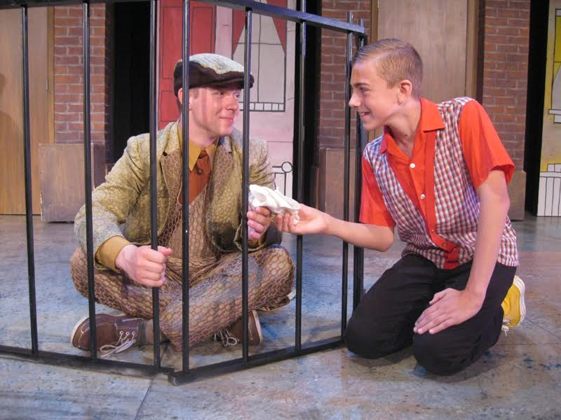 Jack Theiling and Ben Klocke in Lyle the Crocodile