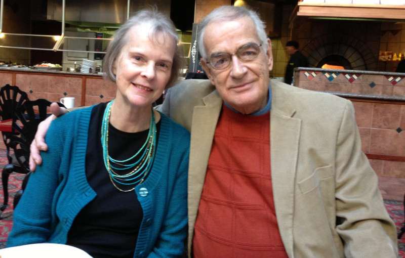 Linda and Lanny Powell at a 2015 jazz brunch at the Davenport Radisson hotel.