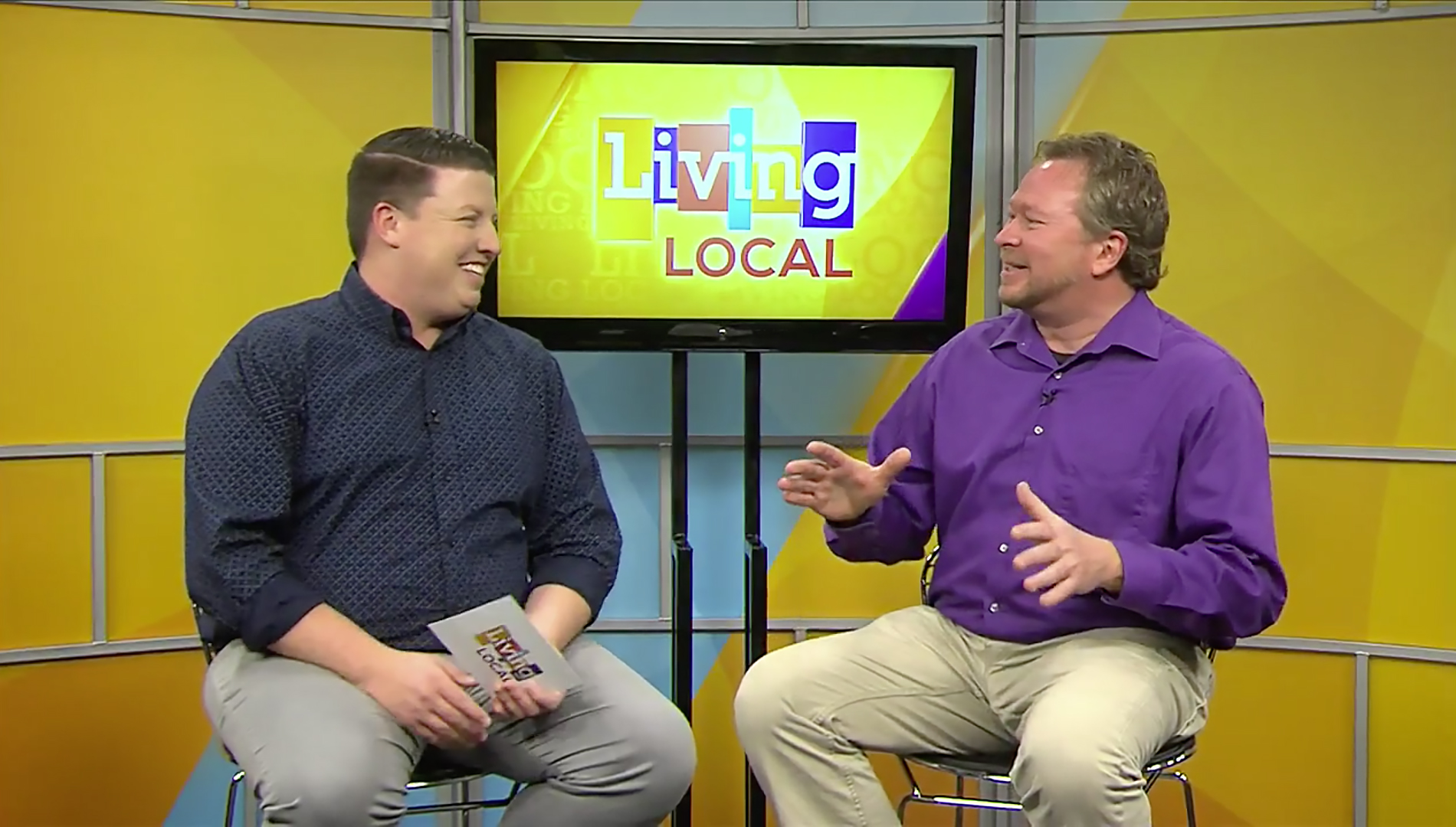 """OurQuadCities.com's Ashe Simpson and The River Cities' Reader's Mike Schulz in """"At The Movies with Mike Schulz"""""""