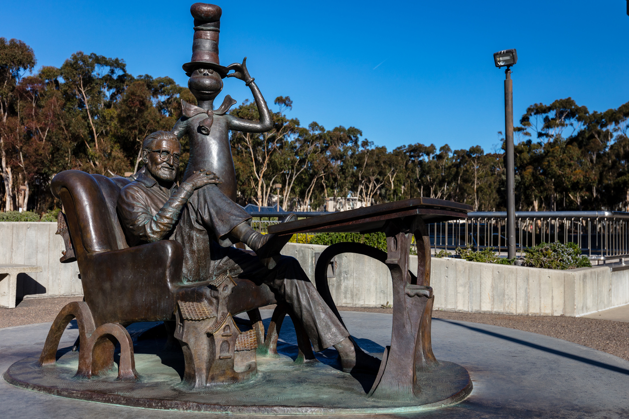 Dr Seuss Cat in the Hat Sculpture at Geisel Library University of California San Diego