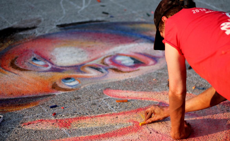 Quad City Arts' Chalk Fest at Schwiebert Riverfront Park -- June 26 and 27.