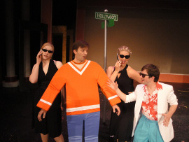 Cari Downing, Steve Lasiter, Sara King, and Tim Stompanato in The Musical Adventures of Flat Stanley