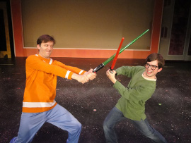 Steve Lasiter and Tim Stompanato in The Musical Adventures of Flat Stanley