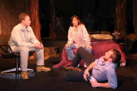 Mike Schulz, Kimberly Furness, and Eddie Staver III in Fool for Love
