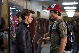 Kenny Wormald and Miles Teller in Footloose