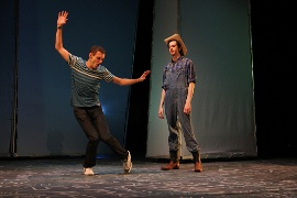 Henry McGinniss and Kyle Branzel in Footloose
