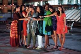 Anika Noni Rose, Kerry Washington, Janet Jackson, Kimberly Elise, Phylicia Rashad, Loretta Devine, Tessa Thompson, and Thandie Newton in For Colored Girls